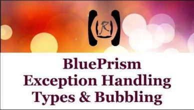 exception type in blue prism