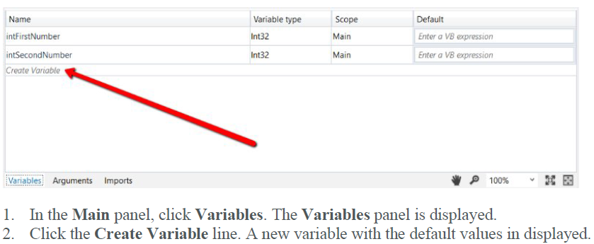 UIPATH VARIABLES