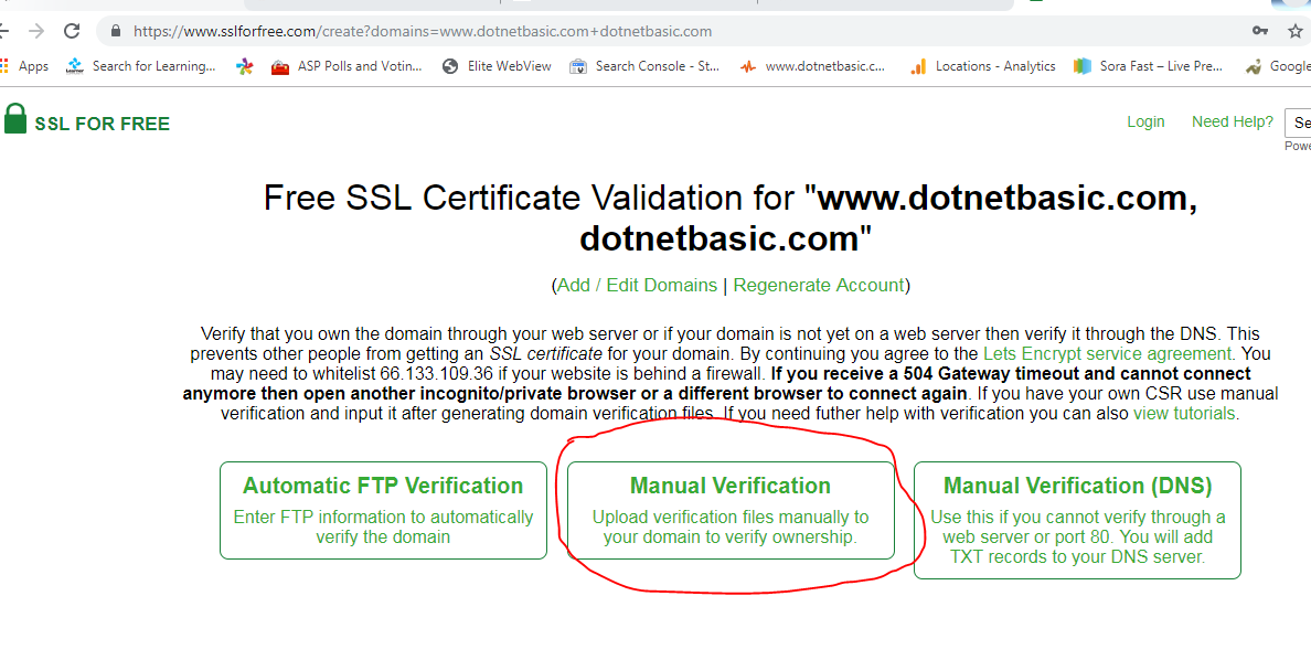 free ssl certificate wordpress website