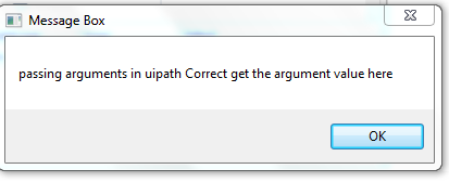 passing arguments in UiPath