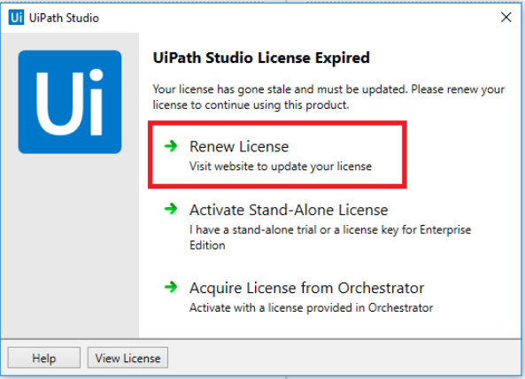UiPath Community Edition License Renewal