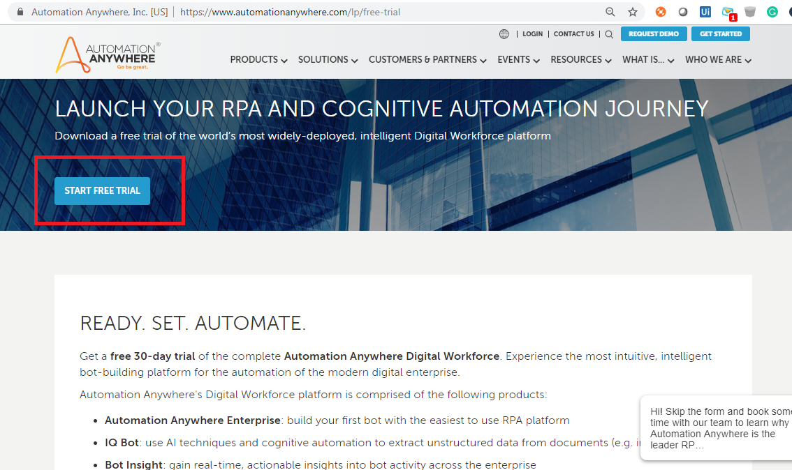 Automation Anywhere Trial Version - Learn RPA online free