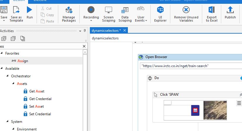 Dynamic Selectors In UiPath
