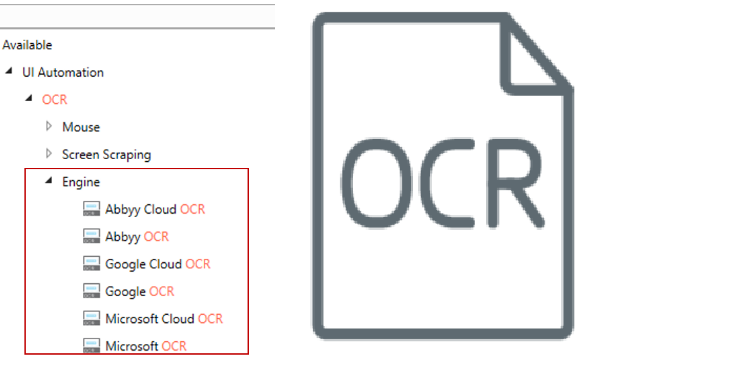 UiPath OCR engine